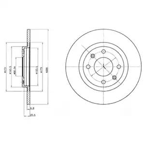 BG2308 - Brake Disc