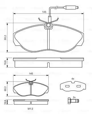 0 986 424 030 - Brake Pad Set, disc brake