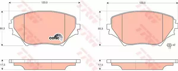 GDB3251 - Brake Pad Set, disc brake