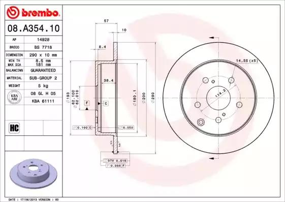 08.A354.10 - Brake Disc