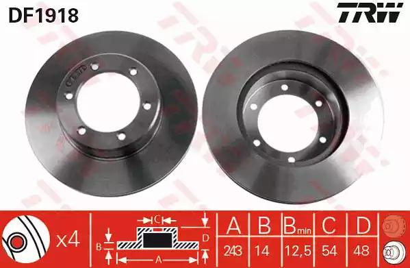 DF1918 - Brake Disc
