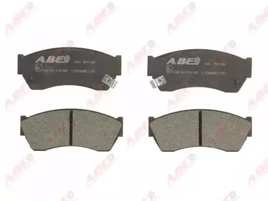 C18005ABE - Piduriklotsi komplekt, ketaspidur