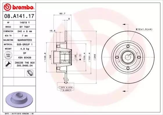 08.A141.17 - Brake Disc