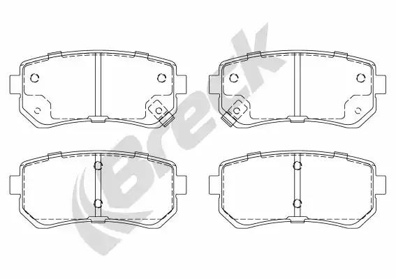 24320 00 704 10 - Brake Pad Set, disc brake