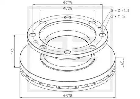 266.001-00A - Brake Disc