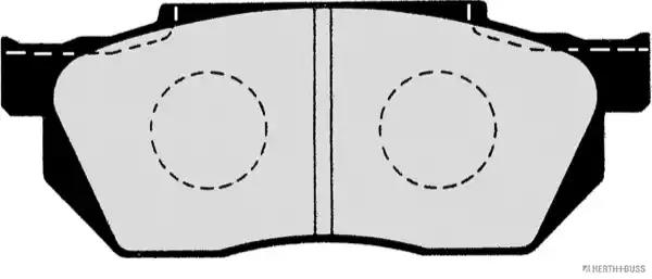 J3604014 - Brake Pad Set, disc brake