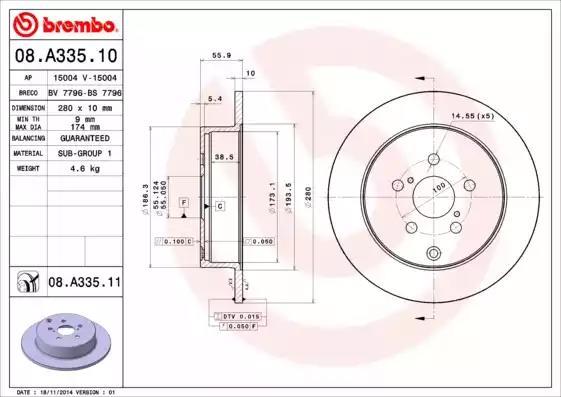 08.A335.10 - Brake Disc
