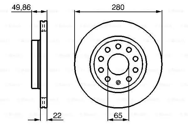 0 986 479 098 - Brake Disc
