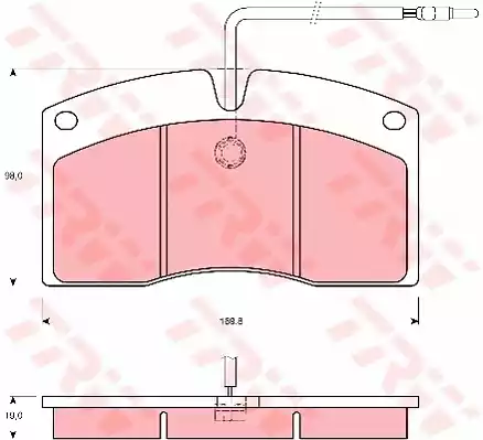GDB5064 - Brake Pad Set, disc brake