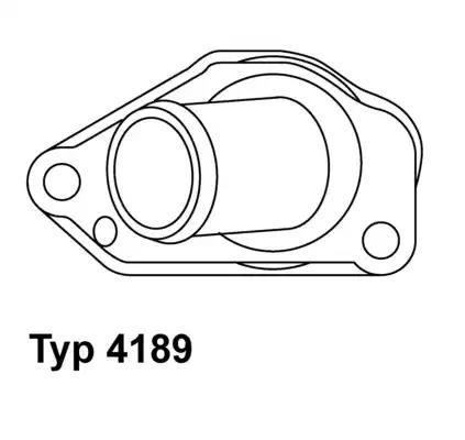 4189.87D - Termostaat, Jahutusvedelik