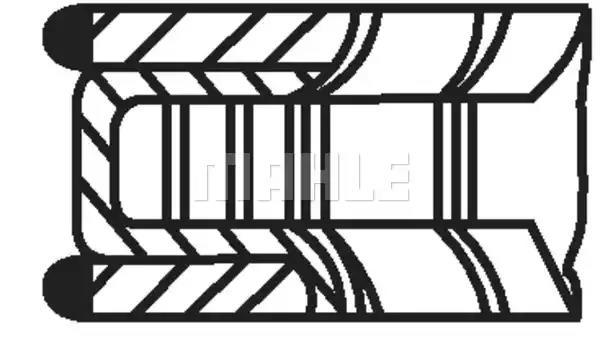 002 08 N1 - Kolvirõngakomplekt