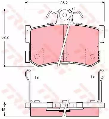 GDB1169 - Brake Pad Set, disc brake
