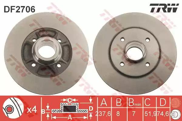DF2706 - Brake Disc