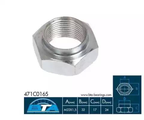 471C0165BTA - Axle Nut, drive shaft