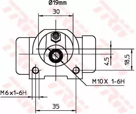 BWD128 - Hjulcylinder