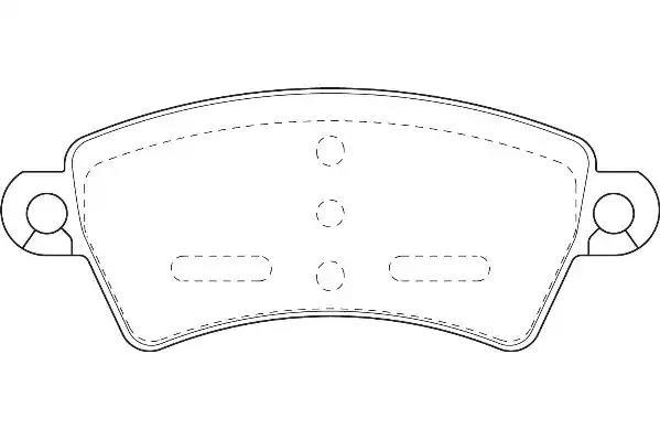 571965J - Brake Pad Set, disc brake